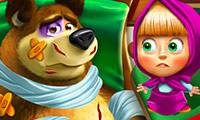 Игры Masha and the Bear Injured